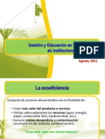 Gestion y Educacion en Ecoeficiencia 2011