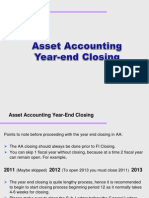 Asset Accounting Year End Close