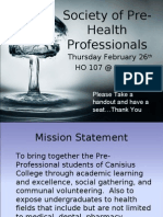 Society of Pre-Health Professionals
