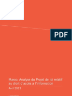 Analyse de l'avant projet par article 19