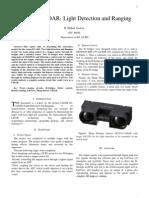 ELA403 Project Report LIDAR