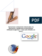 Edición Básica en Google Doc's
