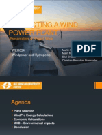 Projecting a Wind Power Plant
