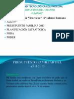 Presupuesto Familiar 2013