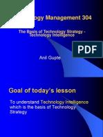 The Basis of Technology Strategy - Technology Intelligence