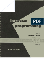 Intercom Programming for the Bendix G-15 (1961)