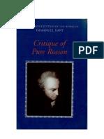Kant Critique of Pure Reason