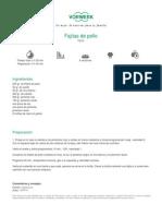 Recetario Thermomix® - Vorwerk España - Fajitas de pollo - 2011-09-28