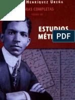 Pedro Henríquez Ureña Obras completas Tomo III - Estudios métricos