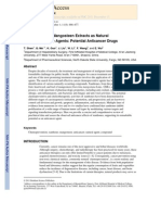 Xanthones From Mangosteen Extracts as Natural Chemopreventive and Antiinflam Agents
