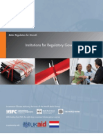 World Bank - Institutions for Regulatory Governance
