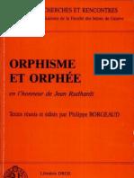 84189577 Orphisme Et Orphee