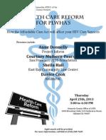 Health Care Reform for PLWHAs