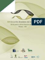 Livro de Resumos Do XIX Encontro Brasileiro de Ictiologia