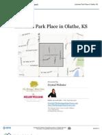 Neighborhood Report - Lackman Park Place in Olathe, Kansas 66062