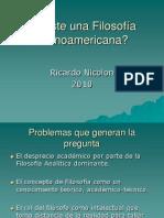 Nicolon 2010 Existe Una Filosofia Suramericana