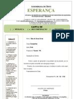 CARTA DE RECOMENDAÇÃO MADUREIRA