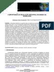 A IMPORTÂNCIA DA REVOLUÇÃO INDUSTRIAL NO MUNDO DA