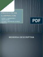PROYECTO DE ILUMINACIÓN