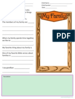 Family Letter Template