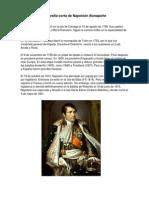 Biografía corta de Napoleón Bonaparte