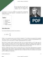 Ley de Ohm - Wikipedia, La Enciclopedia Libre