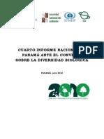 Cuarto Informe de Biodiversidad Panama 2010