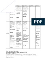 Grade de Grupos de Estudos No Calendario Da Filosofia