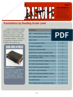 Translations By Reading Level
