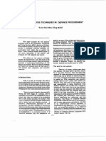 r l s k Analysls Techniques in Defence Procurement