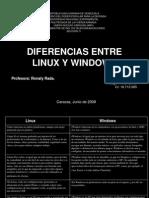 Diferencias Entre Linux y Windows
