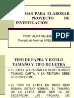 Pautas Para Un Proyecto de Investigacion