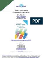 Cancer Et Homeopathie Jean Lionel Bagot.13109 Extrait