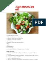Salada Com Molho de Anchovas