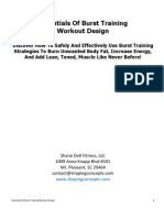 Essentials of Burst Traning Workout Design