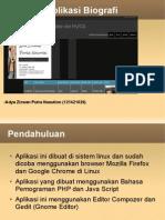 Aplikasi Biografi menggunakan PHP , HTML5  dan JavaScript