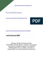 Serial Autocad 2009 (2)