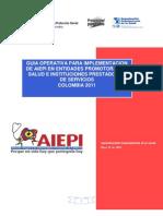 GUÍA OPERATIVA PARA IMPLEMENTACIÓN DE AIEPI EN EPS e IPS