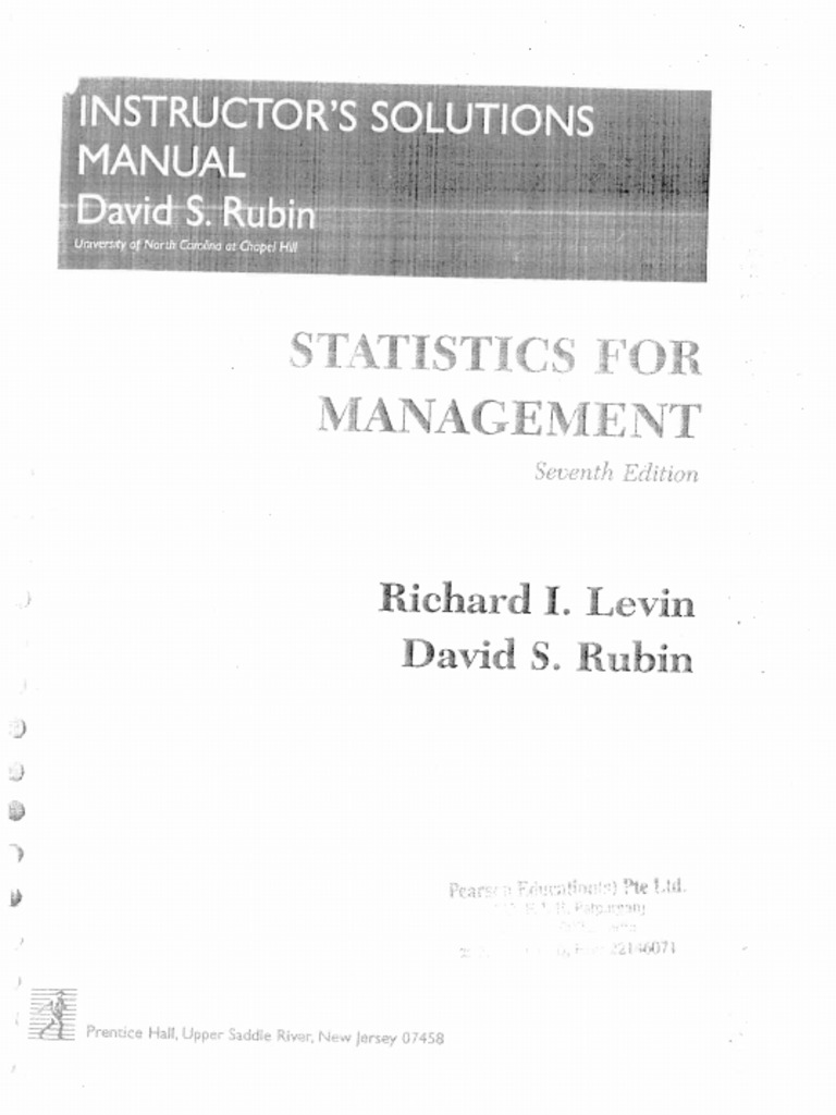 Statistics for management by levin and rubin solution manual fandeluxe Images