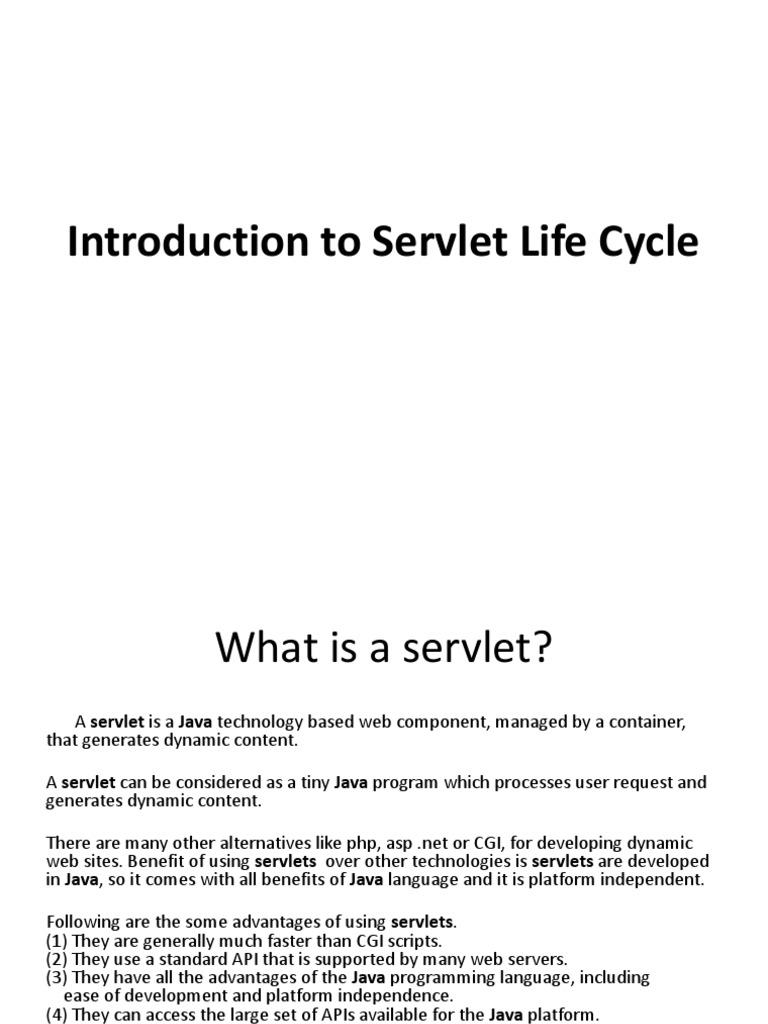 Introduction to servlet life cycle25 1 java servlet dynamic web page baditri Gallery