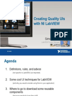 Creating Quality UIs With NI LabVIEW