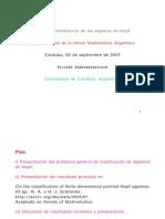 Clasificacion Del Algebra de Hopf