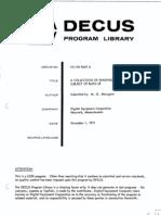 DECUS 10 118 PartII Bliss Readings Dec71