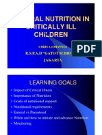 Enteral Nutrition in Critically Ill Children