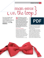 Human Error - In the Loop