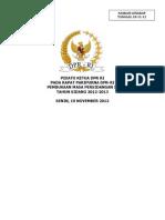 Pidato Pembukaan MS II 2012-2013