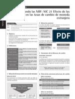 NIC 21 Efecto de Las Variaciones en Las Tasas de Cambio de Moneda Extranjera