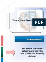 Primary and Secprimary data