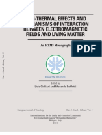 NON-THERMAL EFFECTS AND MECHANISMS OF INTERACTION BETWEEN ELECTROMAGNETIC FIELDS AND LIVING MATTER