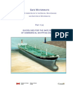 Guidelines for the Safe Design of Commercial Shipping Channels
